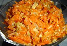 Рецепты салатов: Морковный салат с орехами кешью