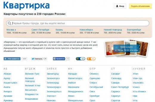 Сайт Kvartirka.su