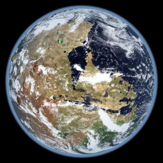 Марс четыре миллиарда лет назад